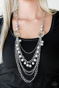 Belles and Whistles - silver - Paparazzi necklace