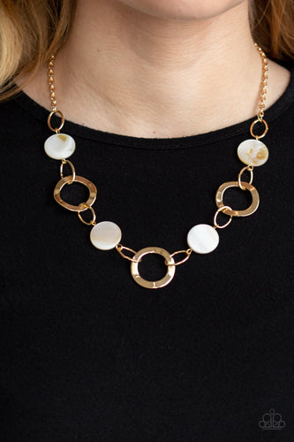 Bermuda Bliss-gold-Paparazzi necklace