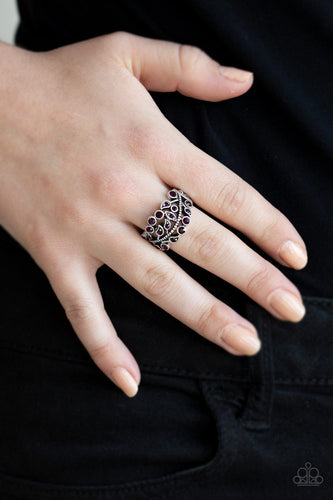 Bling Swing-purple-Paparazzi ring