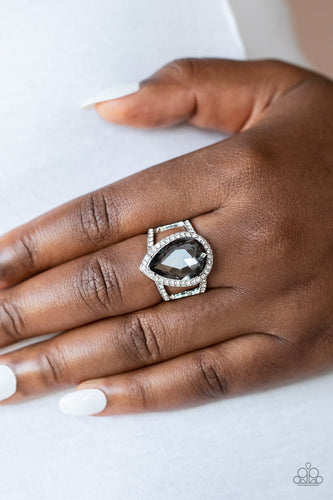 Blinging Down the House-silver-Paparazzi ring