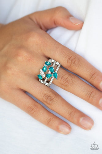 Blink Back TIERS-blue-Paparazzi ring