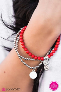 Bloom Out! - Red - Paparazzi bracelet