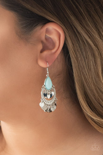 Bodaciously Boho - blue - Paparazzi earrings
