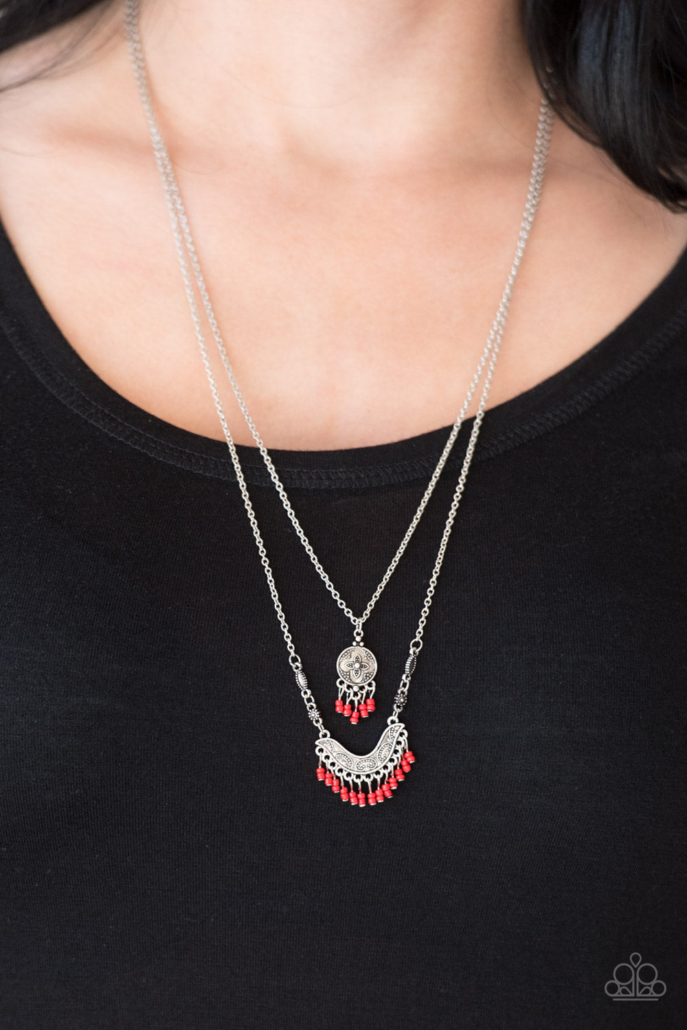 Bohemian Belle - red - Paparazzi necklace