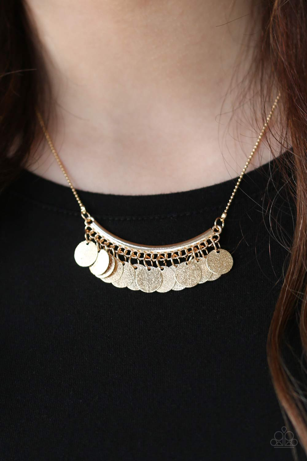 Bohemian Bombshell - gold - Paparazzi necklace
