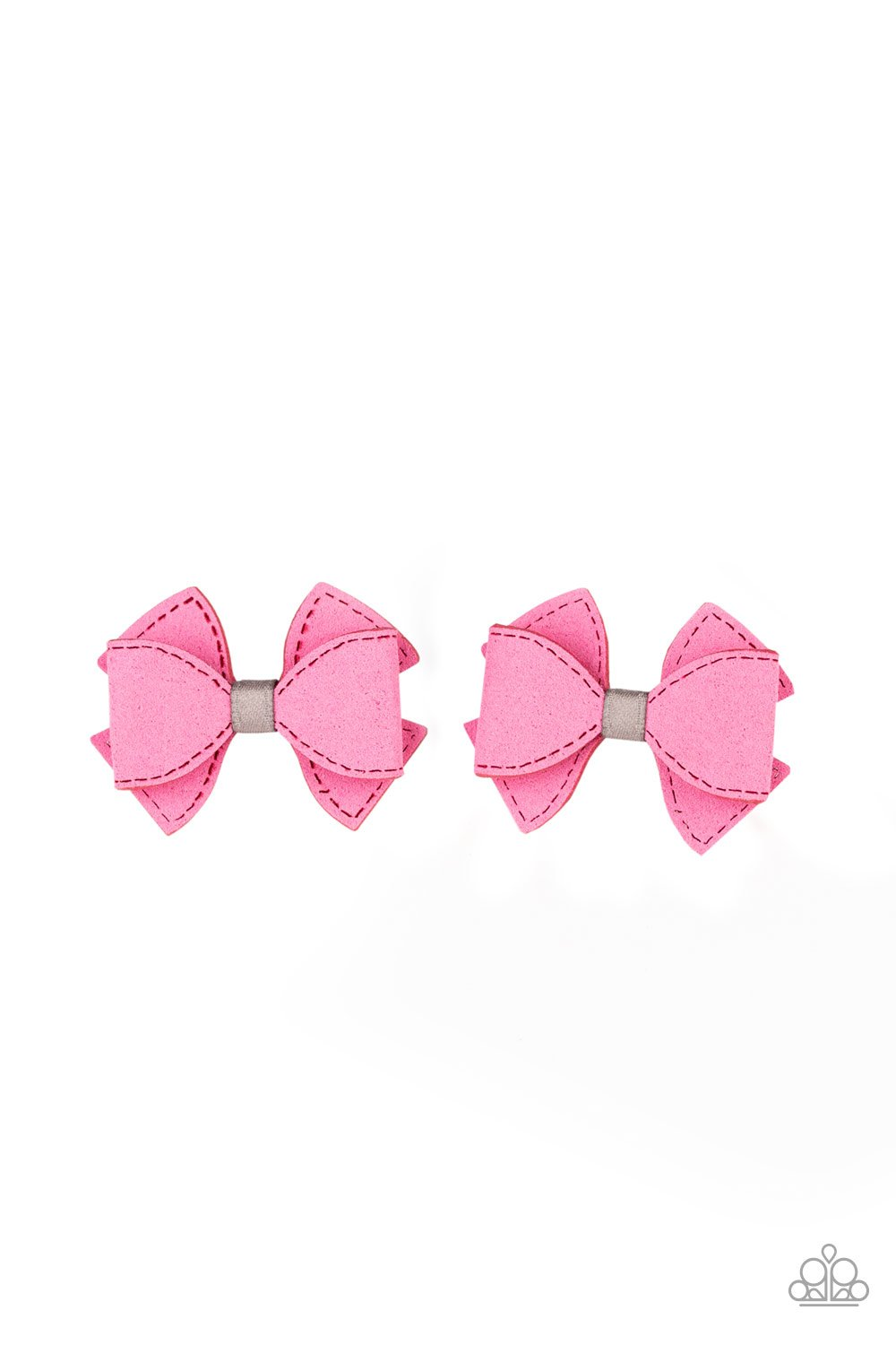 Boots and Bows - pink - Paparazzi hair clip