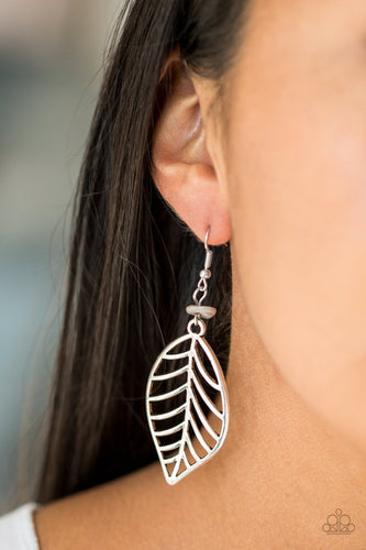 Bough Out - silver - Paparazzi earrings