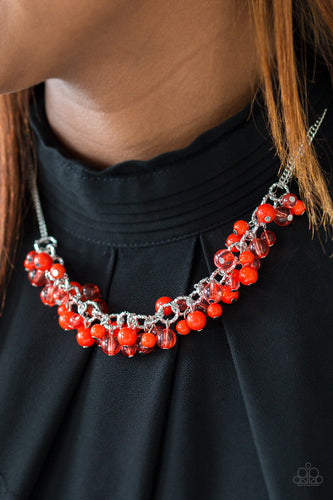 Boulevard Beauty - red - Paparazzi necklace