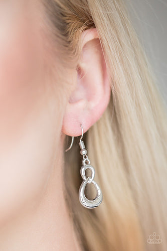 Boundless Beauty - silver - Paparazzi earrings
