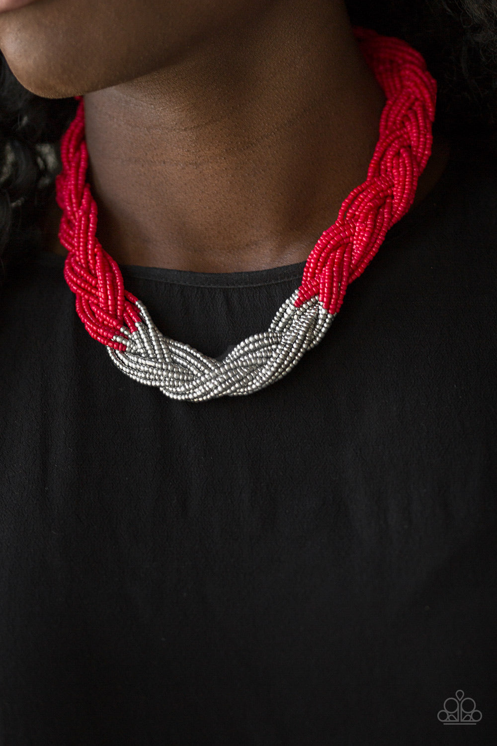 Brazilian Brilliance - red - Paparazzi necklace