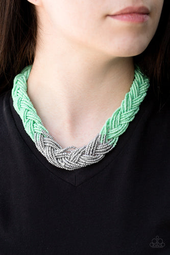 Brazilian Brilliance - green - Paparazzi necklace