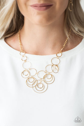 Break the Cycle-gold-Paparazzi necklace
