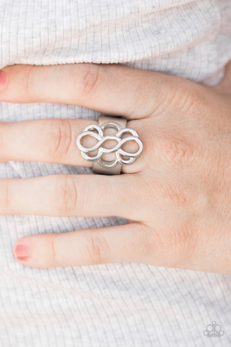 Breathe It All In - silver - Paparazzi ring