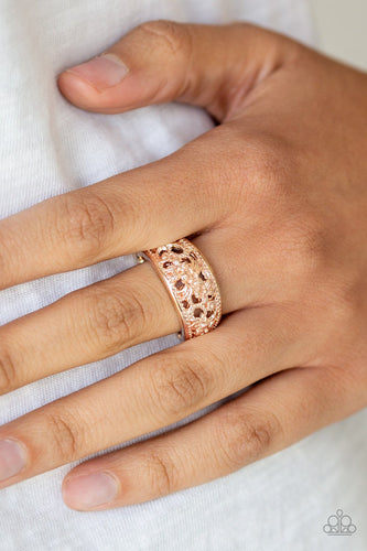 Breezy Blossoms-rose gold-Paparazzi ring
