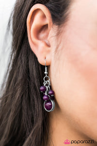 Bright Skies - Purple - Paparazzi earrings