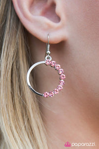 Bubbly Personality - Pink - Paparazzi earrings