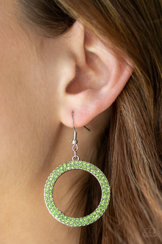 Bubbly Babe - green - Paparazzi earrings