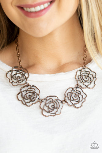 Budding Beauty - copper - Paparazzi necklace