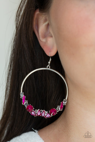 Business Casual - pink - Paparazzi earrings