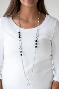 Cache Me Out - black - Paparazzi lanyard necklace