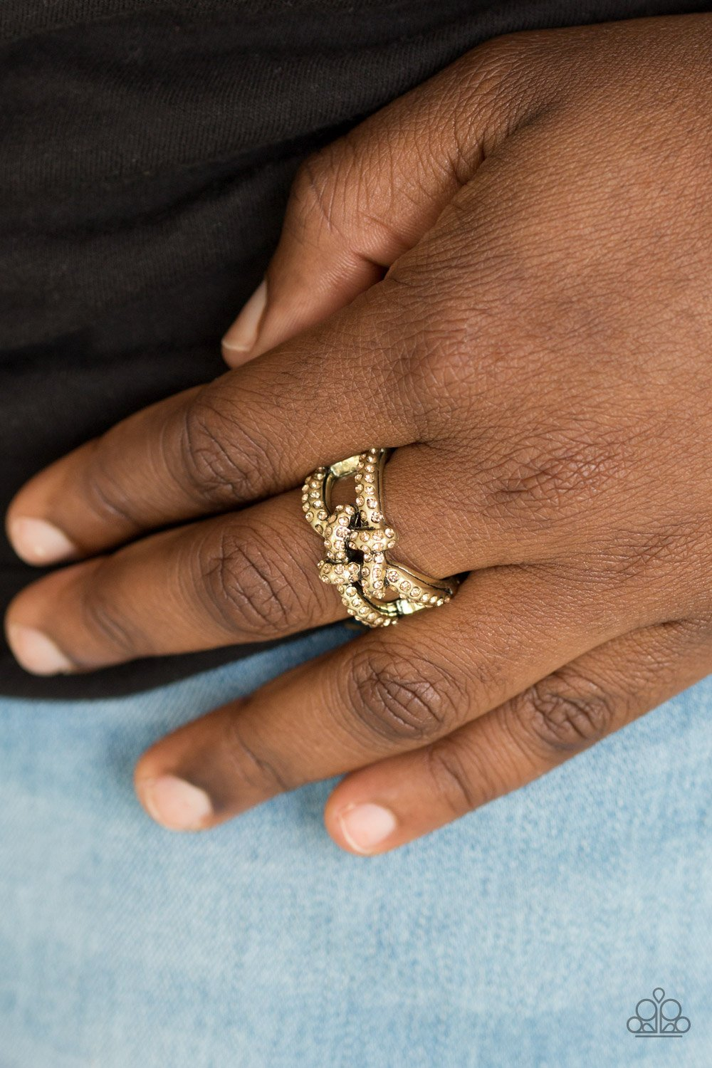 Can Only Go UPSCALE from here - brass - Paparazzi ring