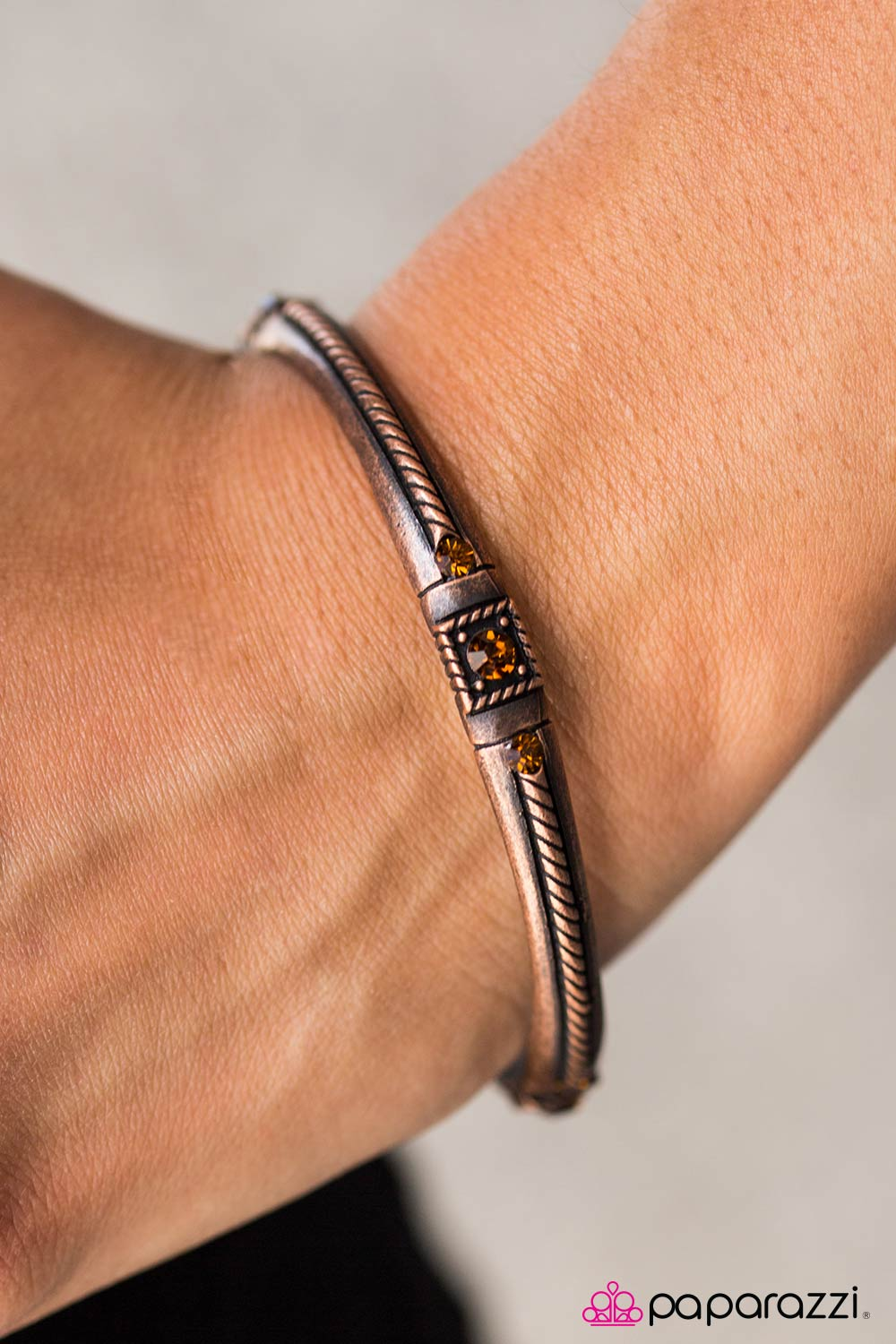 Cant BLING Me Down - Copper - Paparazzi bracelet