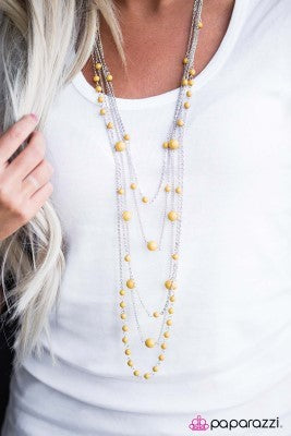 Can't Stop the Feeling - yellow - Paparazzi necklace