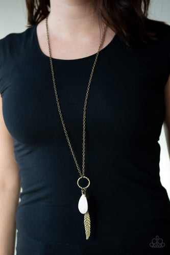 Canyon Quest - brass - Paparazzi necklace