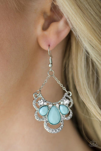 Caribbean Royalty - blue - Paparazzi earrings