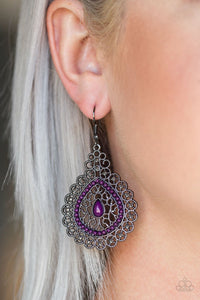 Carnical Coutesan - purple - Paparazzi earrings