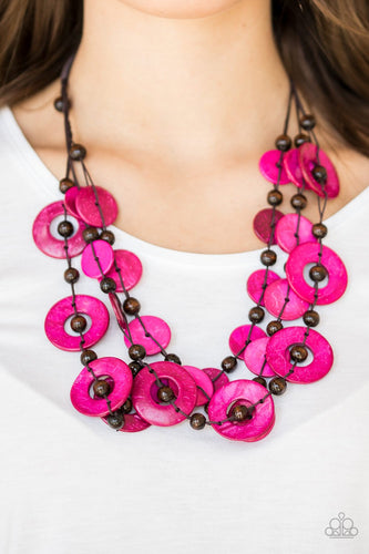 Catalina Coastin - pink - Paparazzi necklace
