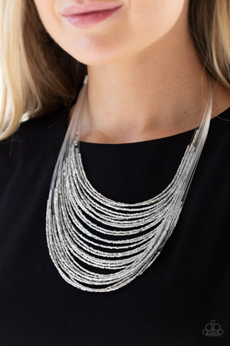 Catwalk Queen - silver - Paparazzi necklace