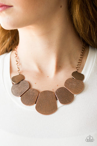 Cave the Day - copper - Paparazzi necklace