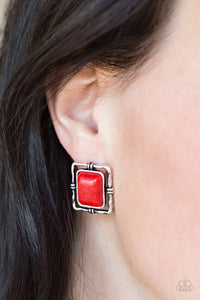 Center Stagecoach - red - Paparazzi earrings