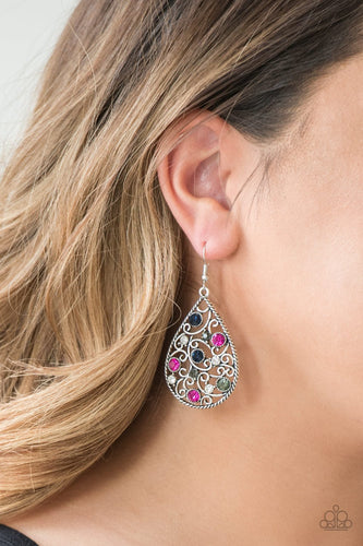 Certainly Courtier - multi - Paparazzi earrings