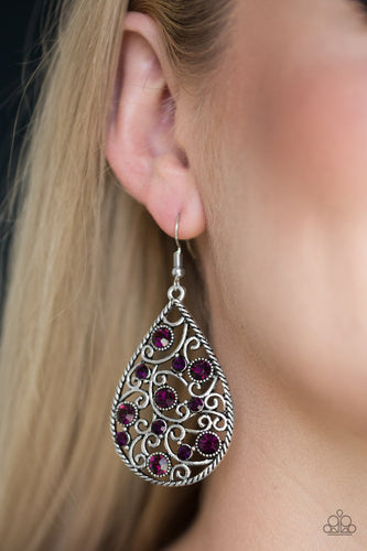 Certainly Courtier - purple - Paparazzi earrings