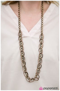 Chain of Command - Brass - Paparazzi necklace