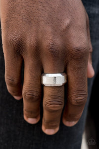 Checkmate-silver-Paparazzi Mens Ring