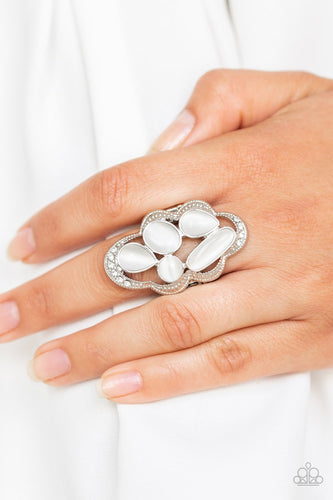 Cherished Collection-white-Paparazzi ring