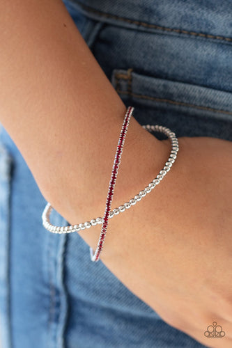 Chicly Crisscrossed-red-Paparazzi bracelet