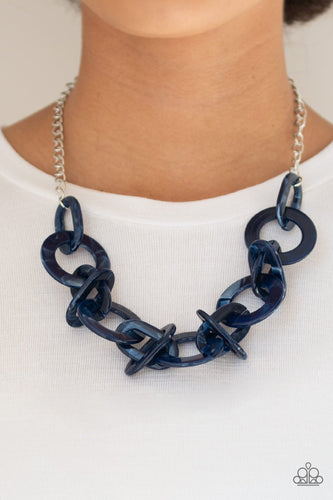 Chromatic Charm-blue-Paparazzi necklace