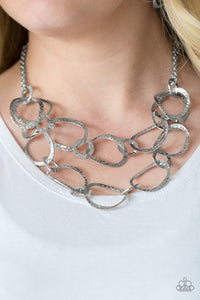 Circus Chic - silver - Paparazzi necklace