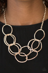 Circus Royale - rose gold - Paparazzi necklace