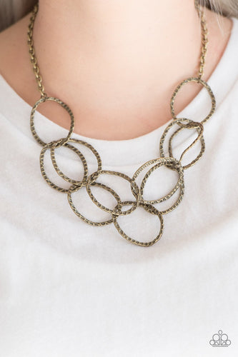 Circus Royale - brass - Paparazzi necklace