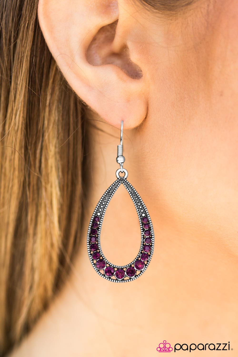 Cloudy With A Chance of SPARKLE - Paparazzi earrings