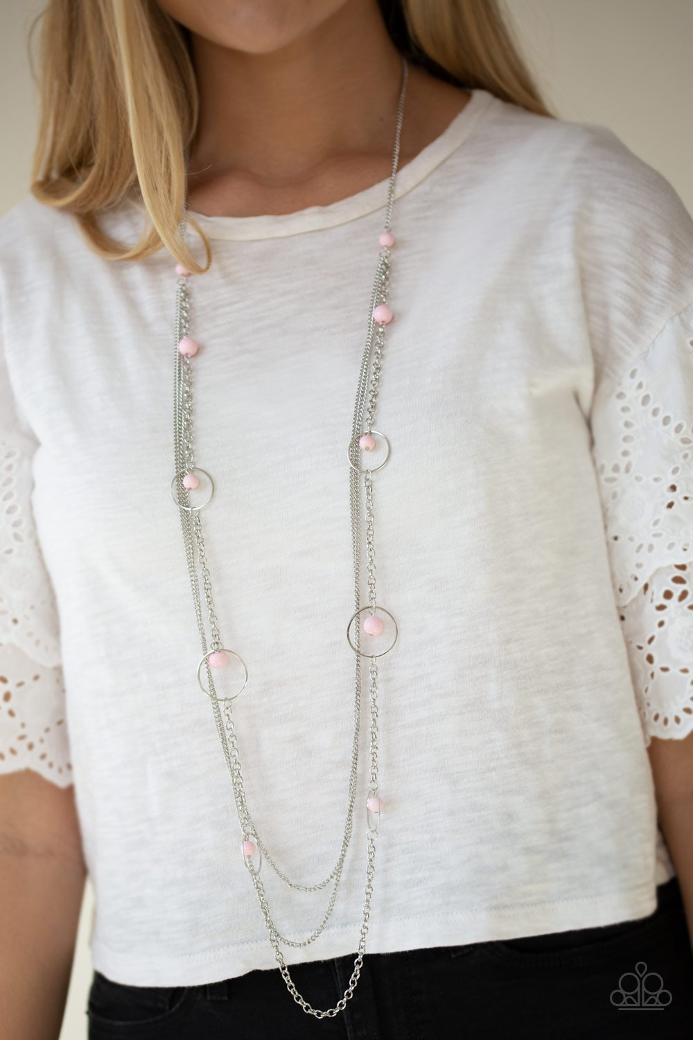 Collectively Carefree - pink - Paparazzi necklace