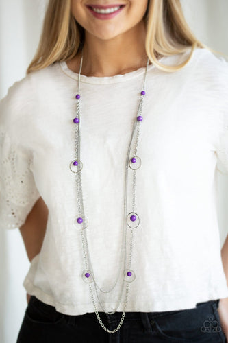 Collectively Carefree-purple-Paparazzi necklace