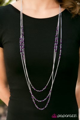 Color My World - purple - Paparazzi necklace