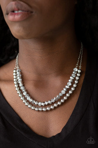 Color of the Day-silver-Paparazzi necklace