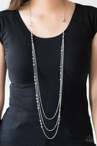 Colorful Cadence - purple - Paparazzi necklace